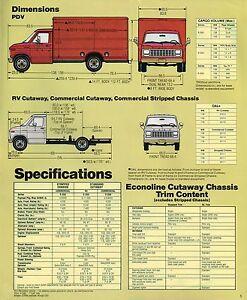 ford econoline chassis van brochurexle