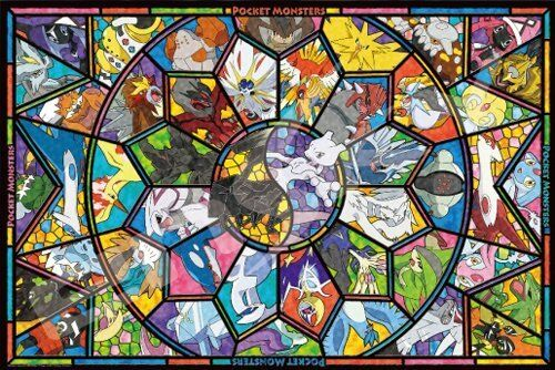 ENSKY ART CRYSTAL JIGSAW PUZZLE 1000-AC011 LEGENDARY POKEMON (1000 PIECES)