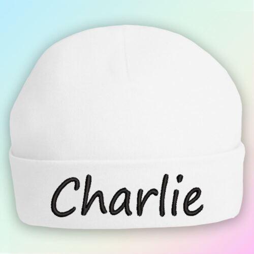 Sólo nombres de bebé bordados Beanie Sombrero Regalo Personalizado