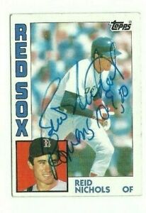 Reid Nichols 1984 Topps signed auto autographed card Red Sox