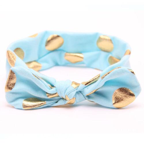 Baby Girl Headband Ribbon Elastic Headdress Kids Hair Turban Band Newborn Bow