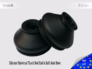 2-X-UNIVERSAL-Dust-Boot-Silicone-15-33-23-Track-Rod-End-and-Ball-Joint-Boots