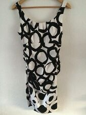 Wallis Cotton Elastane Mix Dress Size 10 Black & White <R7166