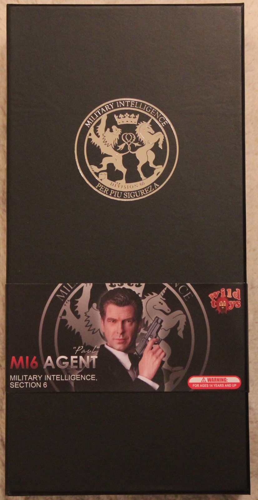 Did action figure 1 6 12'' modern british agent paul mi6 boxed hot toy dragon