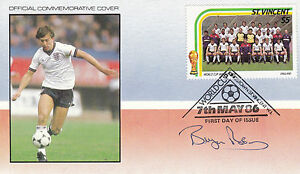 FOOTBALL WORLD CUP 1986 St VINCENT FDC SIGNED BY ENGLAND CAPTAIN BRYAN ROBSON - Weston Super Mare, Somerset, United Kingdom - FOOTBALL WORLD CUP 1986 St VINCENT FDC SIGNED BY ENGLAND CAPTAIN BRYAN ROBSON - Weston Super Mare, Somerset, United Kingdom