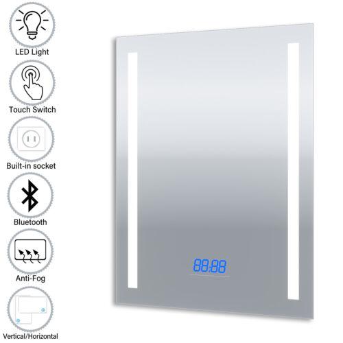 Bathroom Illuminated LED Mirror Waterproof/&Dustproof with Bluetooth Speaker IP44