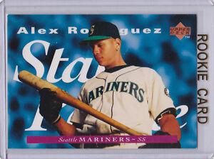 Details About Alex Rodriguez Rc Upper Deck Star Rookie Card Baseballl Ms New York Yankees