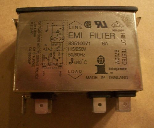 Interpower Plug in EMI Filter Model  83510071