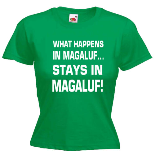 Magaluf Ladies Womens Lady Fit T Shirt
