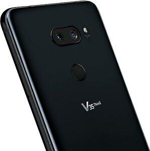 LG V35 ThinQ Alexa Hands-Free 64GB Unlocked Smartphone Cell Phone Black NEW