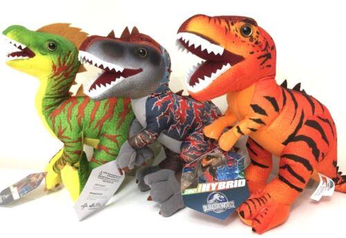 "New Jurassic World Set of 3 Toys 16/"" Long PLUSH DinosaurT-Rex NWT.Licensed"