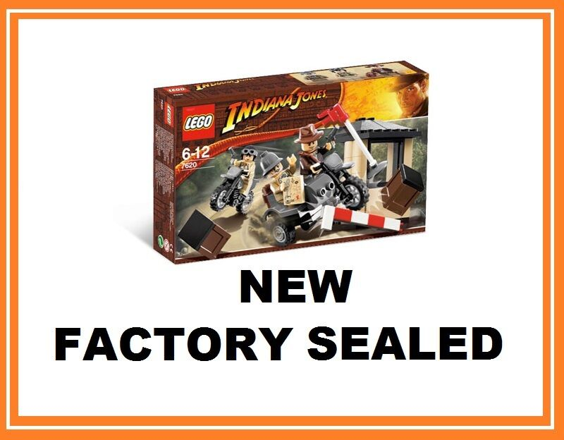 LEGO Indiana Jones movie motorcycle chase set 7620 NEW German soldier minifig