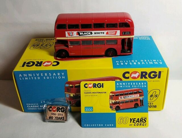 CORGI 60 YEARS ANNIVERSARY LTD EDN CLASSIC ROUTEMASTER LONDON TRANSPORT OM46310