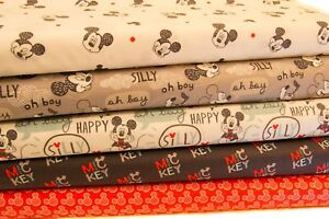 DISNEY-MICKEY-MOUSE-CRAFT-COTTON-PRINT-FABRIC-10-GORGEOUS-DESIGNS