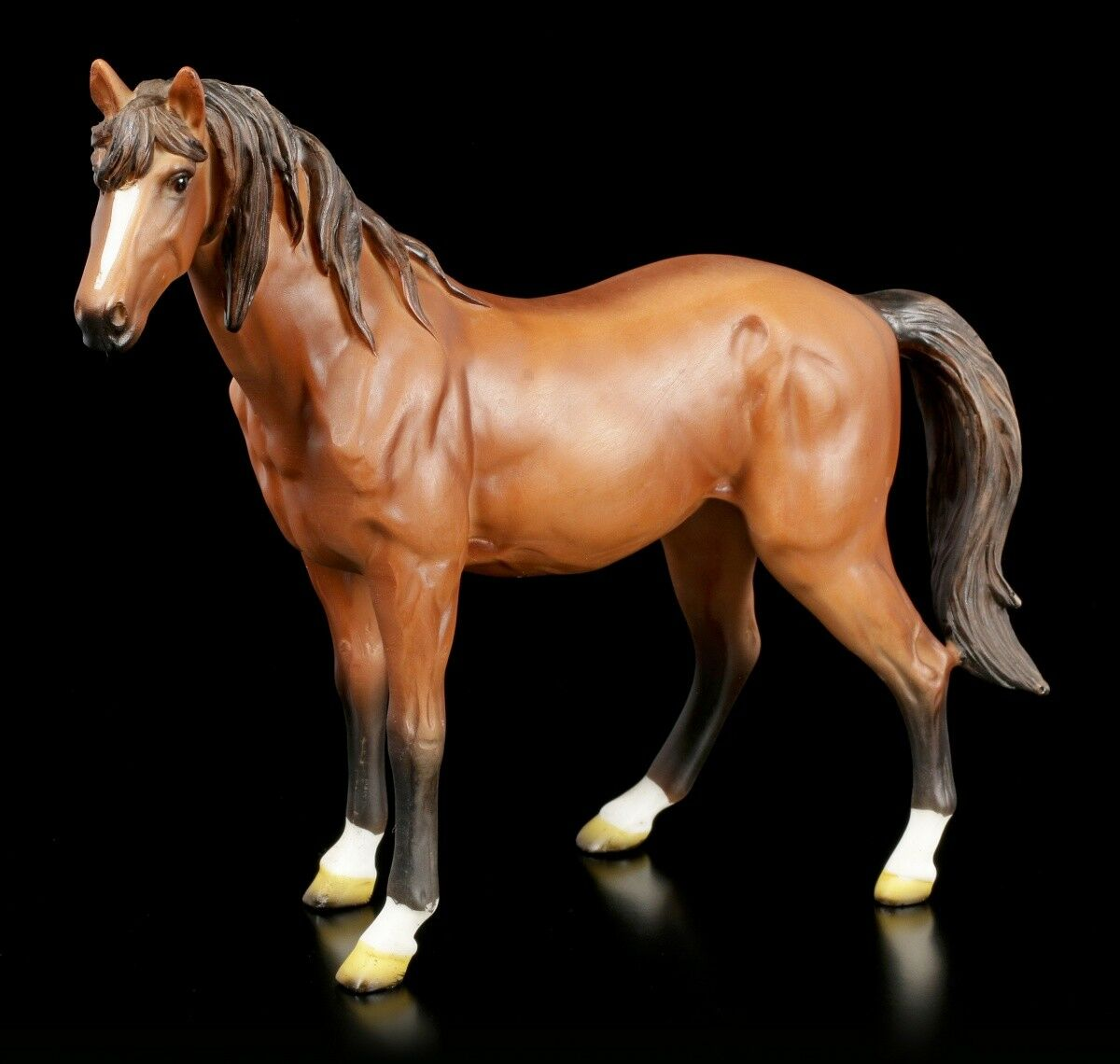 Brown Horses Figurine - Stallion Mare Horse Statue