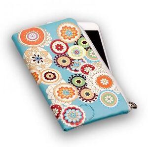 Reissverschluss-Handy-Tasche-Soft-Case-Flower-tuerkis-Spring