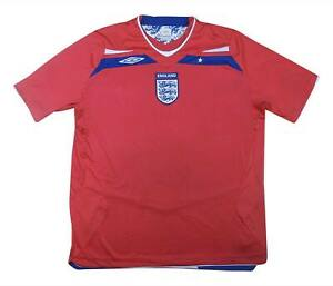 England 2008-10 Authentic Away Shirt (eccellente) XL soccer jersey