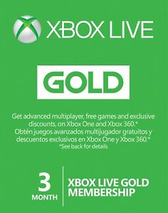 Microsoft-3-month-Xbox-live-gold-membership-Subscription-for-xbox-one-xbox-360