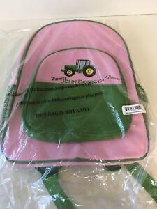 NWT John Deere Tractor Pink//Green Backpack