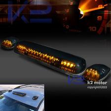 Truck Light Bulbs: 3X JDM Smoke Amber LED Cab Roof Running Marker Lights Lamps w/ Wiring Kit,Lighting