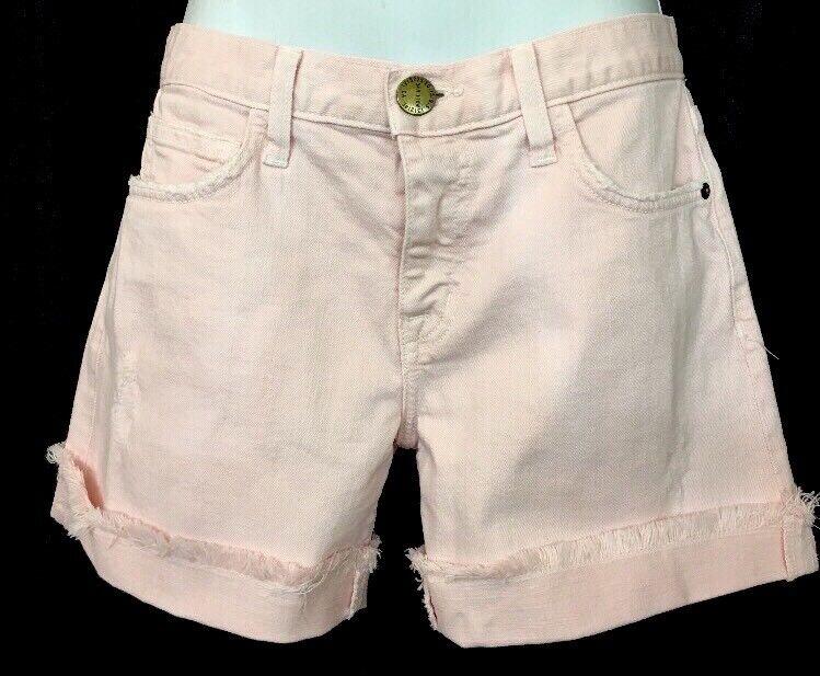 Current Elliott Shorts The Boyfriend Rolled Short Forever Pink Destroy Size 23