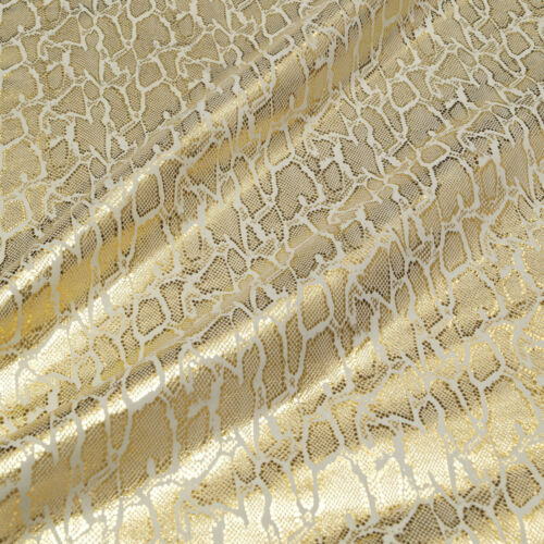 Reptil Design oro metalizado 1,1 mm cuero genuino curtidas terciopelo Leather piel Fell