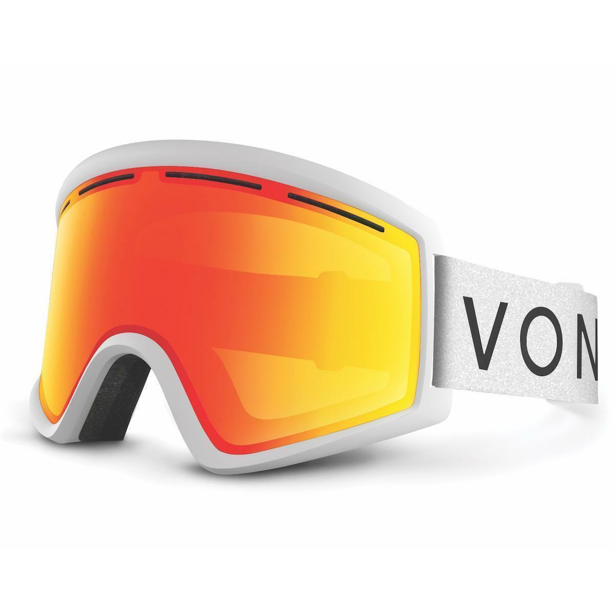 NEW VonZipper Cleaver White Red Mirror Mens  Large Snowboard Goggles +lens Rt 120  brand