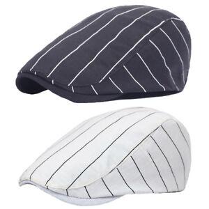 Hommes-Femmes-Classique-a-Rayures-De-Conduite-Golf-Chapeau-Reglable-Casual-Newsboy-Beret-Cap