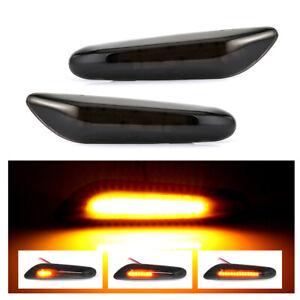 2X-Sequential-LED-side-indicator-turn-signal-for-BMW-E90-E91-E92-E60-E87-E82-E46