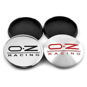 4 x 55mm OZ Racing M582 Schwarz Carbon Satz Nabenkappen Felgendeckel Allufelge