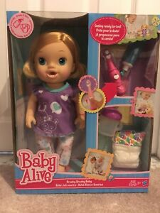 Baby Alive New Baby Alive Brushy Brushy Doll With Toothbrush Blonde Drinks Wets Dolls Dolls Bears Dolls