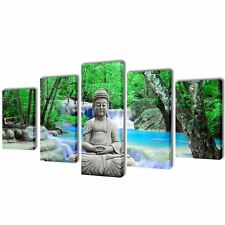Canvas Modern Home Wall Decor Picture Print Art Painting Framed 5 pcs Buddha 79""