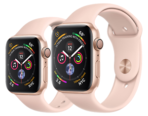 Apple Watch Series 5 Gold Aluminum Case Pink Sand Sport Band Gps 44mm Open Box Ebay
