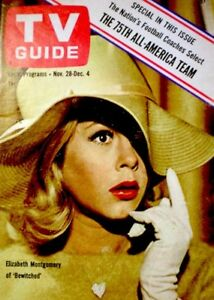 TV-Guide-1964-Bewitched-Elizabeth-Montgomery-Lauren-Bacall-EX-NM-COA-Rare