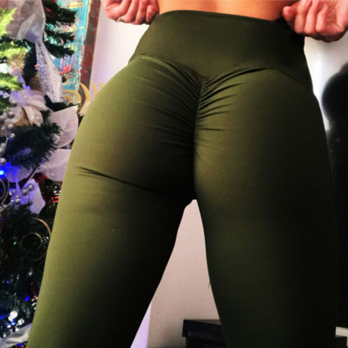 Womens High Waisted Yoga Pants Push Up Hip Fitness Leggings Gym Sports Trousers