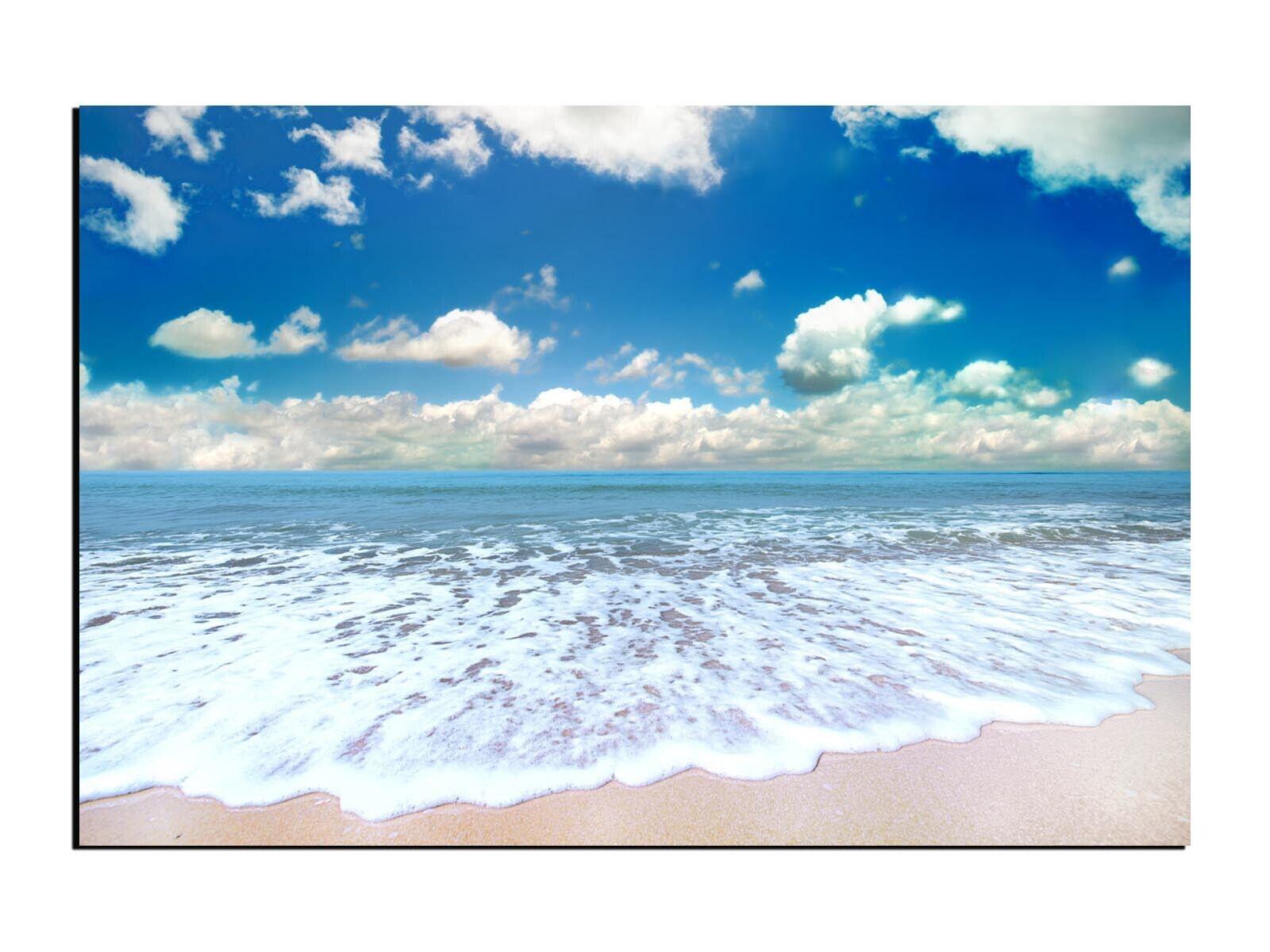 Alu-Dibond Wandbild Strand am Meer Natur Beach Landschaft AB-687 Butlerfinish®