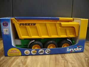 BRUDER 02212 1/16 JOSKIN TIPPING TRAILER NEW IN BOX DAMAGED PACKAGING
