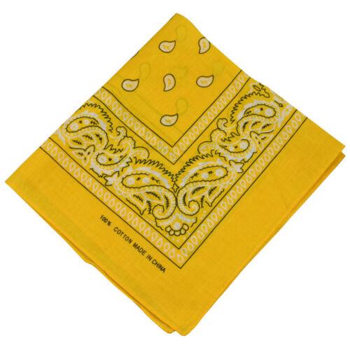 PAISLEY bandana Unisex pure cotton square bandana scarf SQUARE PAISLEY design