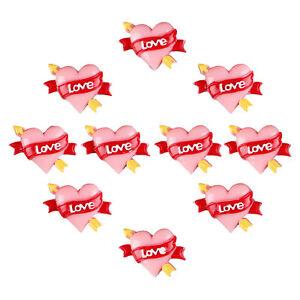 10pcs Valentine's Day Cupid Heart Love Flatback Resin Scrapbooking Crafts Making