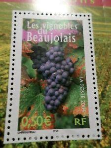 FRANCE-2004-timbre-3648-REGIONS-VIGNOBLES-BEAUJOLAIS-neuf-VF-MNH-STAMP