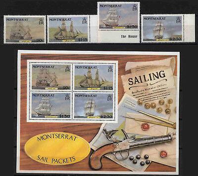 10517 Postschiffe Privatverkauf Montserrat 643-646+block 38 ** Keine Rückna ZuverläSsige Leistung