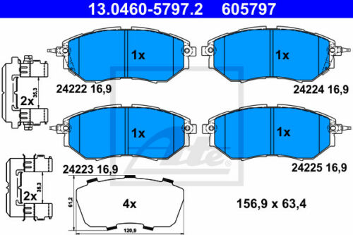 SJ 13.0460-5797.2 für SUBARU FORESTER VA ATE Bremsbelagsatz Vorderachse
