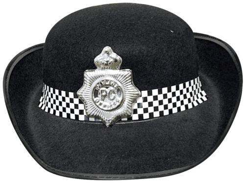 AGENTE di polizia donna cappello nero adulti