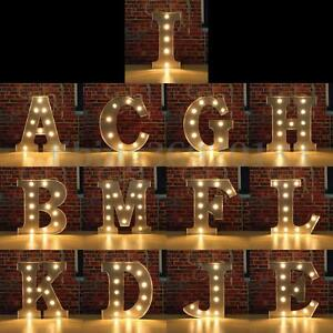 Image Is Loading 12 039 Marquee Metal Alphabet Letter Lights