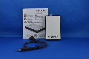 Delock-1-8-Externes-Gehause-micro-SATA-HDD-SSD-gt-USB-3-0-Host-Powered-zu-5Gbs