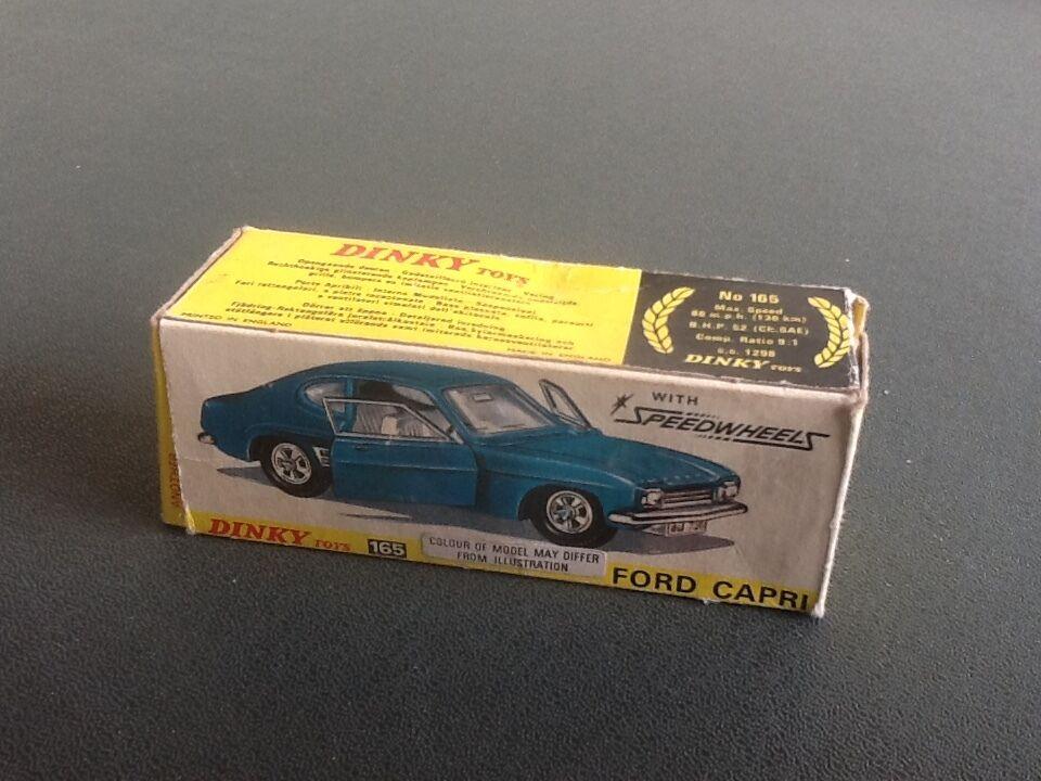 Boxed dinky 165 ford capri 1969  75 rotuziert auf klare