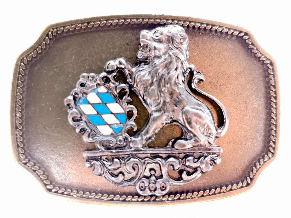 Dress Buckle Belt Buckle Lion White Blue Dress buckle removable belt