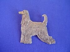 Afghan Hound Pin Standing pewter #32B Show Dog Jewelry by Cindy A. Conter hound