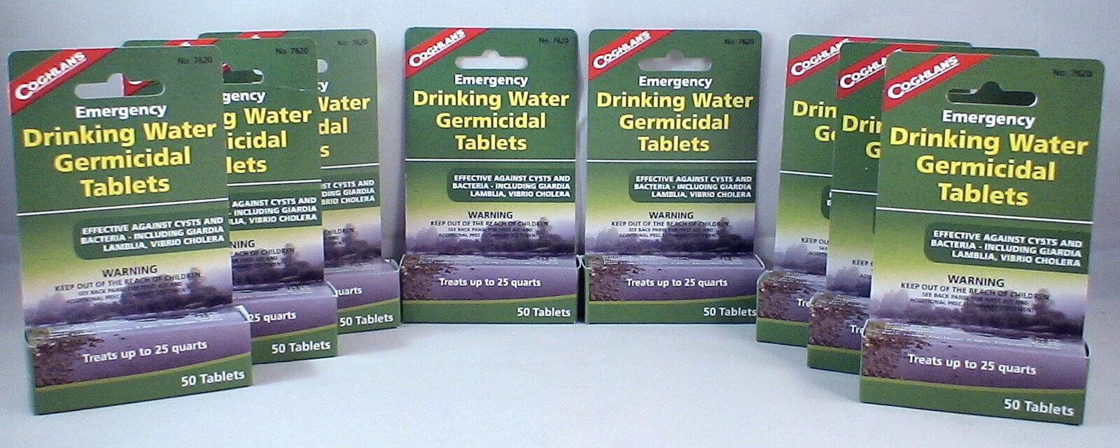 8 paquetes de purificación de agua tablets-drinkable Agua En 30 30 30 Minutos  400 Etiquetas 7419b9