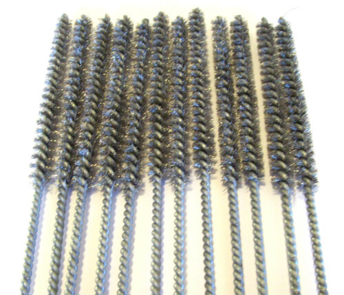 """12 GOLIATH INDUSTRIAL 16/"""" STEEL WIRE TUBE CLEANING BRUSH 3//8/"""" TB38S BRUSHES GUN"""